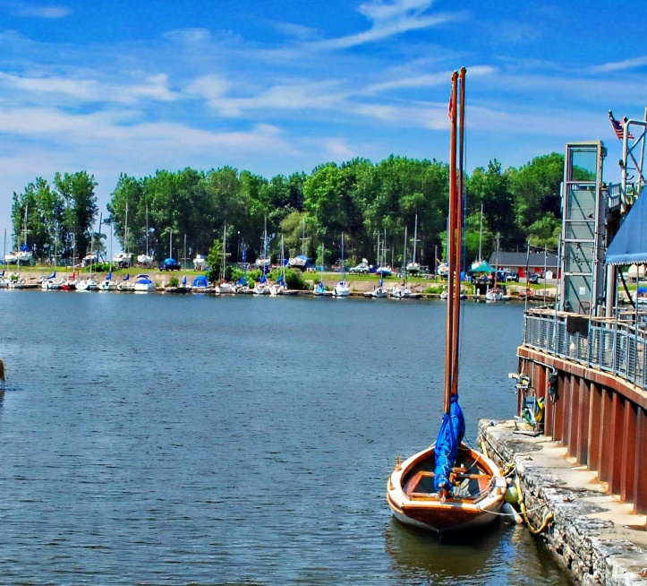 one of the many boat harbors along the Buffalo River and Great lake Erie