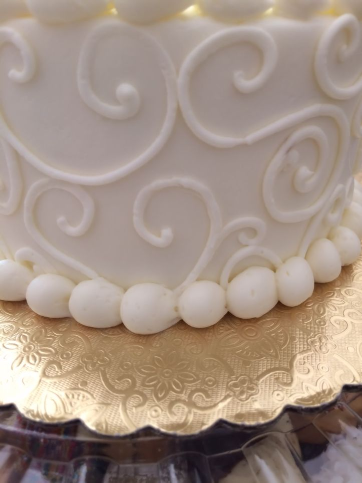how 'bout a piece of wedding cake.. in the freezer now:)