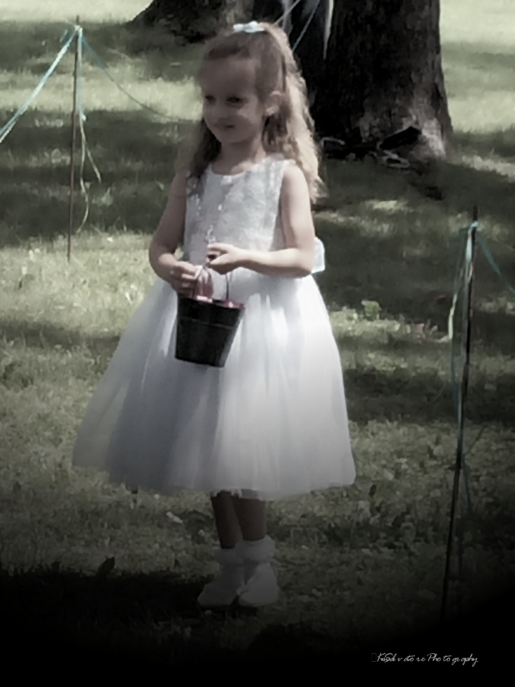 then there was Sylvia, practicing her roll as flower girl, even after the ceremony
