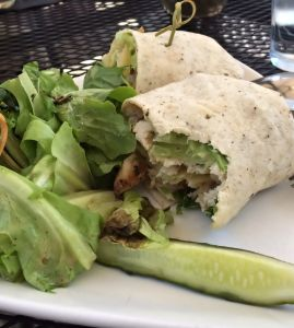 this is a chicken club wrap, my choice