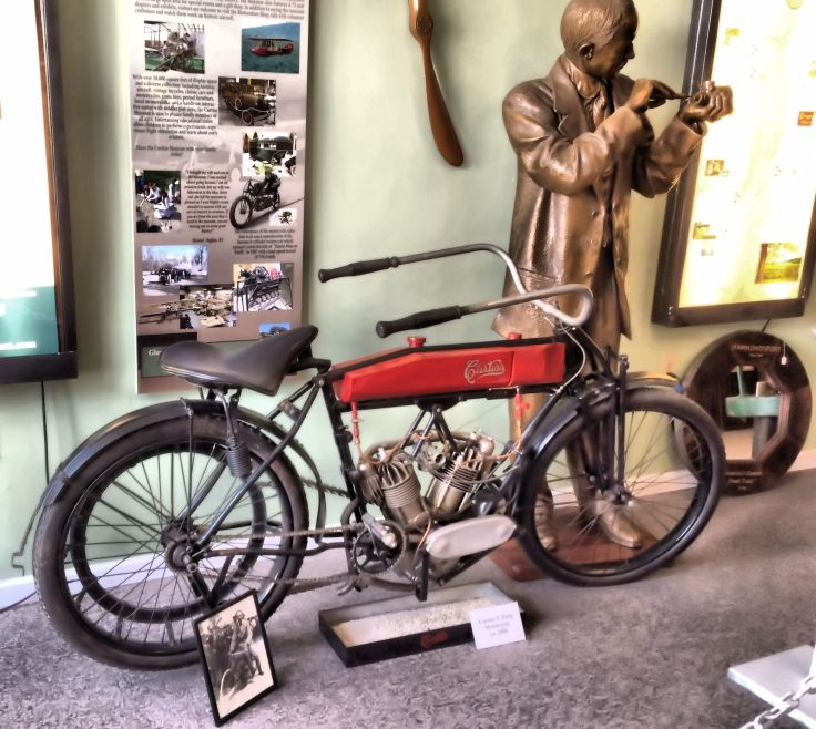 the town is named after Glenn Hammond Curtiss,the American motorcycle designer and manufacturer