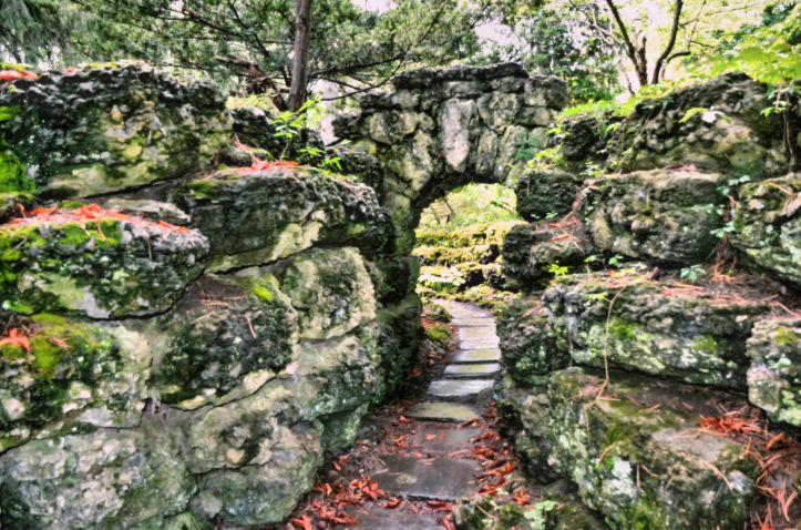stone and gardens  at every turn