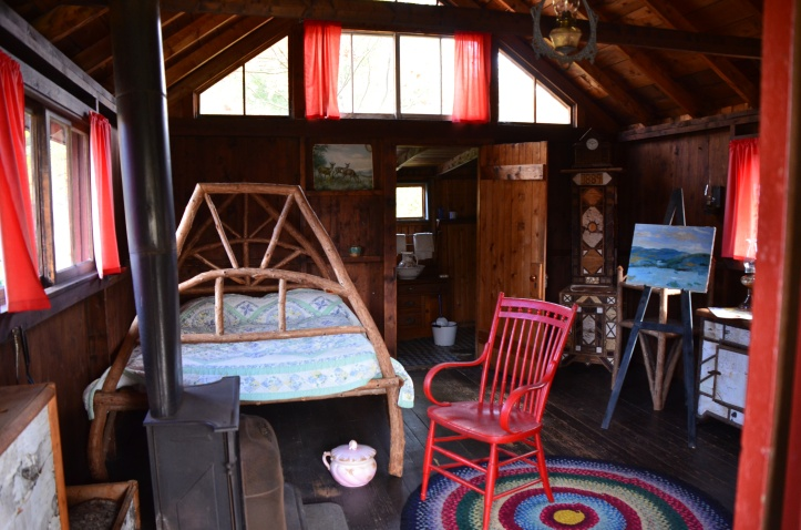 a typical cabin. i was surprised to see so much color