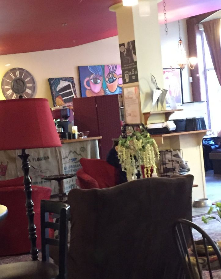 time for a cupa.. in a very unique city neighborhood coffee shoppe